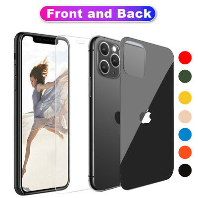 AU3.88 • Buy Front + Back 9H Tempered Glass Screen Protector For IPhone 12 11 Pro XS Max XR X