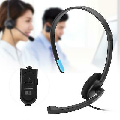 £8.69 • Buy 3.5mm Wired Call Center Headset Headphone With Mic For Cordless Telephone Laptop