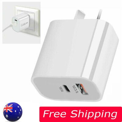 AU12.69 • Buy Charger Adapter PD USB-C Type C Fast Wall AU Plug For IPhone 12/11 Android 18W