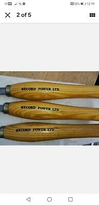 £40 • Buy RECORD POWER WOOD TURNING TOOLS CHISELS GOUGES  SET OF 3 Check Out My Other  .
