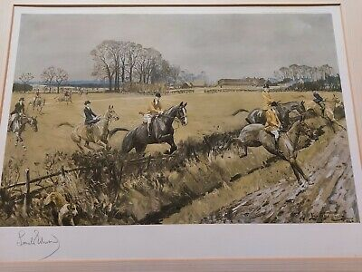 £50 • Buy Lionel Edwards Signed Hunting Print Old Surrey And Burstow Foxhounds