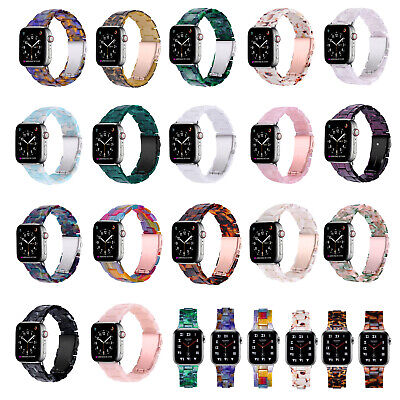 AU22.99 • Buy For Apple Watch SE/6/5/4/3 38/40/42/44MM Resin Stainless Steel Watch Strap Band