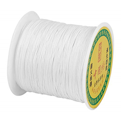 £11.52 • Buy Cheriswelry 0.5mm Nylon Beading String Silky White Chinese Knotting Cord Braided