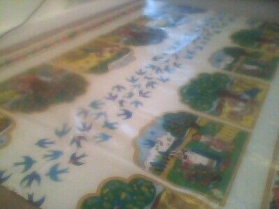 £6 • Buy French Vintage Waterproof Tablecloth - Ideal For Party, BBQ, Art Activity, Etc.