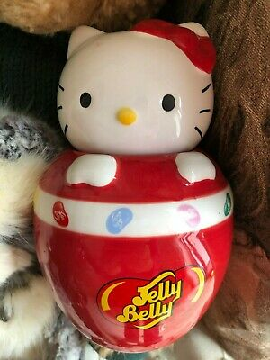 £9.50 • Buy JELLY BELLY BEAN - HELLO KITTY Ceramic Jar 7 1/2 Tall COLLECTABLE Rare OFFICIAL