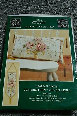 £4.40 • Buy Counted Cross Stitch Italian Roses Craft Collection New Cushion Front Bell Pull