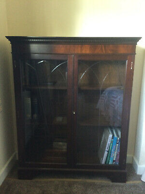 £20 • Buy Reproduction Mahogany Glass Fronted Display Cabinet / Bookcase