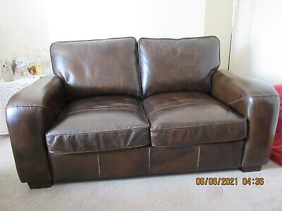 £197 • Buy Halo Leather Sofa. Used But In Excellent Condition. 65  Wide-38 Deep