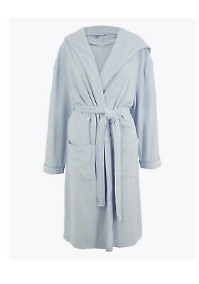£14.99 • Buy NEW Cotton Rich Velour Hooded Dressing Gown Marks And Spencer Size 20 - 22 EUR 4