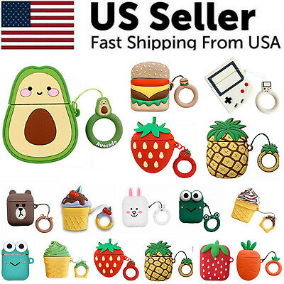 $ CDN5.02 • Buy Cute 3D Cartoon Silicone Protective Case Cover For AirPod AirPods 1 2 Keychain
