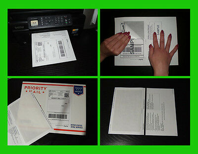 $16.99 • Buy 100 Self Adhesive Mailing Shipping Labels W/ Tear Off Paper Receipt Paypal Ebay