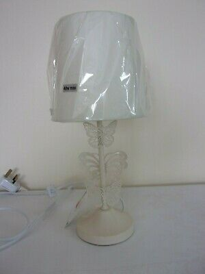 £12.99 • Buy Cream Metal Butterfly  Bedside / Table  Lamp Base, 13.25  Tall To Top Of Shade