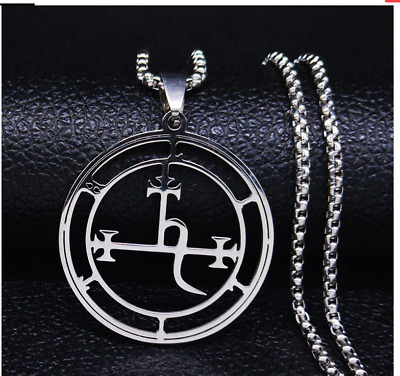 $ CDN26.14 • Buy Lilith Goetia Demon Seal Pendant Necklace, Key Satan Satanist Occult Witch Wicca