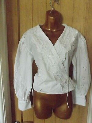 £4.99 • Buy Gorgeous New White Embroidered Lace Summer Peasant Boho Zara Top Size 10-12