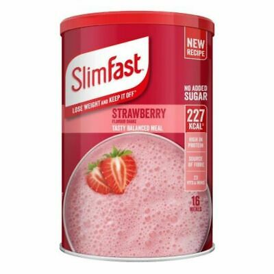 £12.99 • Buy Slim Fast Strawberry Flavour Shake Powder 584g - 16 Servings Meal Replacement