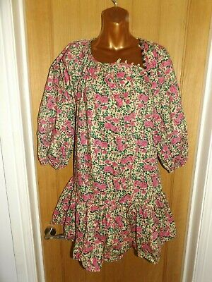 £4.99 • Buy Gorgeous New Yellow Pink Green Floral Boho Summer Peasant Zara Top Size 14-16
