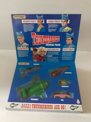 £45 • Buy Vintage 1992 Matchbox Thunderbirds Rescue Pack Vehicle Set Complete Boxed