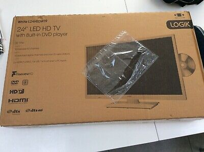 £109 • Buy Bnib Logik Tv White L24hedw19 Led Hd Freeview Tv + Dvd Player New Boxed 24 Inch