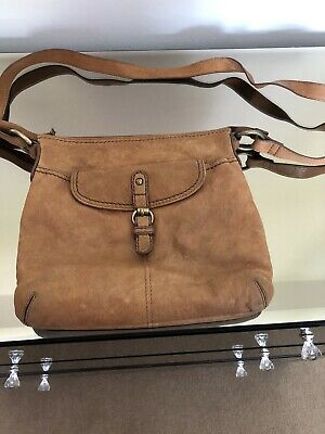 £5 • Buy M And S Autograph Tan Cross Body Leather Bag