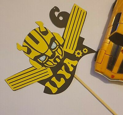 £8 • Buy Bumblebee Personalised Cake Topper Transformer Bumble Bee