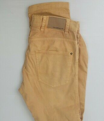 AU26.75 • Buy Pull And Bear Mustard Yellow Jeans Sz 40 W31