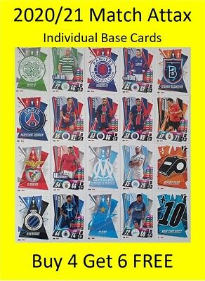 AU3.99 • Buy 2020/21 Match Attax Base Cards - Buy 4 Get 6 FREE - PSG Celtic Rangers Benfica