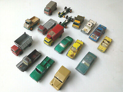 £10 • Buy Joblot Of 16 Original Matchbox And 1 Unknown Land Rover Vehicles Play Worn