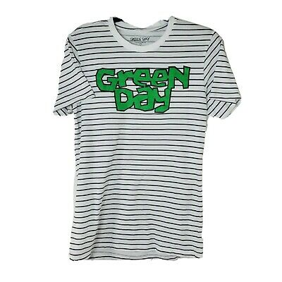 £10.79 • Buy Green Day Womens Sz Small White Black Striped Short Sleeve Graphic Punk T-Shirt