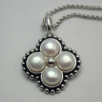 $129.95 • Buy Fine Honora Mabe Pearl Enhancer Pendant Sterling Silver 18  Necklace  WT 18.2g