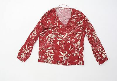 AU9.34 • Buy Oysho Womens Red Floral  Basic Button-Up Size S