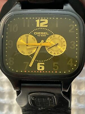 $ CDN47.37 • Buy Diesel Only The Brave Men's Watch Thick Leather Band 10 Bar