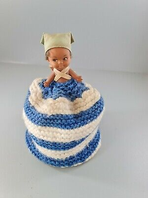 £7 • Buy Vintage Doll Toilet Roll Cover