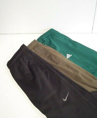 $ CDN18.21 • Buy Lot Of 3 Nike Adidas Athletic Works Men's Sweatpants Sz Small Warm Up Therma-Fit