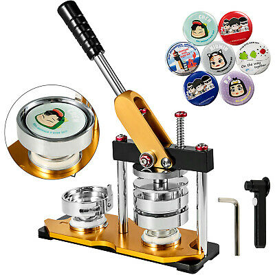 £73.99 • Buy 1.25  32mm Button Maker Machine 100Pcs Rotate Pin Buttons Steel Handle Clothes