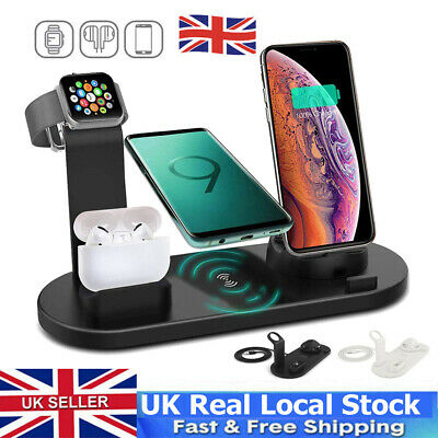 £11.89 • Buy Wireless Charger Stand 4 In1 Charging Dock For Apple Watch Series/iPhone Station