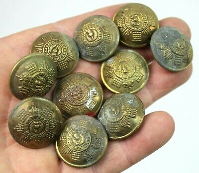 £0.99 • Buy LOT OF 10 X WW2 KINGS CROWN SCOTS GUARDS BRASS BUTTONS (AUC)