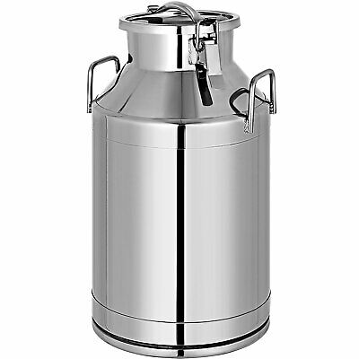 $102.98 • Buy 50L Milk Bucket Stainless Steel Can Pail Farm Water Feeding Barrel Canister