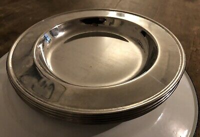 £10 • Buy Stainless Steel Small Thick Plates X 6