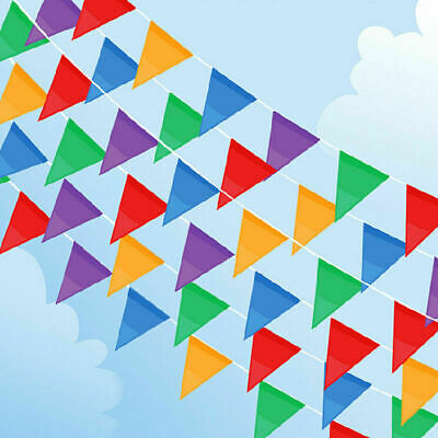 £1.85 • Buy 33 Feet 20 Flags Multi Colour Banner Bunting Party Event Home Garden Decoration