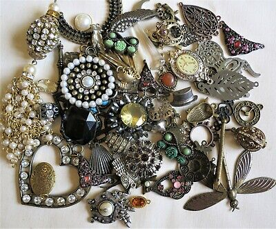 £5 • Buy 200g VICTORIAN STYLE STEAMPUNK JEWELLERY MAKING FINDINGS, CONNECTORS, CHARMS