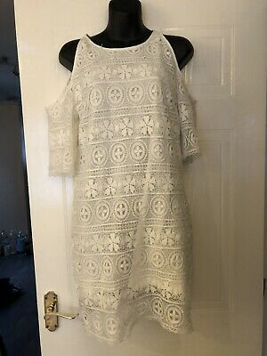 £12 • Buy Hearts And Bows Lace Dress Size 8 Nee No Tags White
