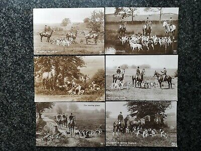 £12 • Buy 6 X  Fine HORSE & HOUNDS & HUNTING Sepia RP Studies By Schwerdtfeger