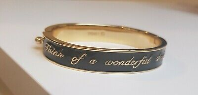 £12 • Buy Disney Couture Tinkerbell 'Think Of A Wonderful Thought' Hinged Bangle Bracelet.