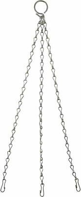 """£3.29 • Buy Garden Hanging Basket Chains Replacement Metal Easy Fit 14"""" With Hook Clips UK"""