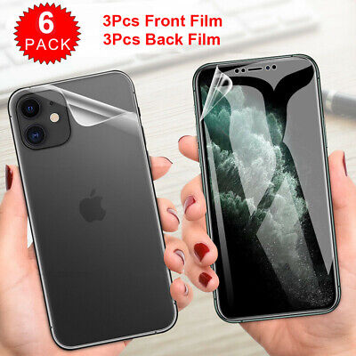 AU4.69 • Buy 3x Front +3x Back Hydrogel Screen Protector Film For IPhone 12 11 XS Pro Max 8 7