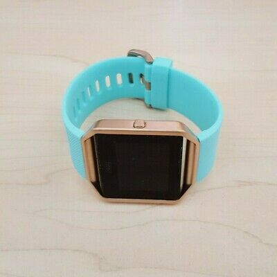 AU57.50 • Buy Fitbit Blaze Smart Watch Fitness Activity Tracker Teal Blue - Small *NO CHARGER*
