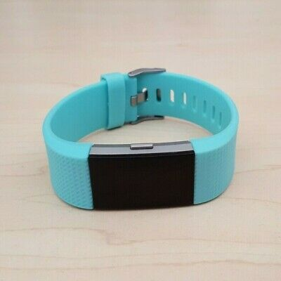 AU44.50 • Buy Fitbit Charge 2 Heart Rate Fitness Activity Tracker Teal Blue Wristband Small