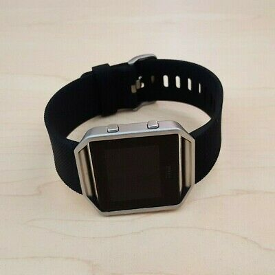 AU57.50 • Buy Fitbit Blaze Smart Watch Fitness Activity Tracker Black Silver Small -NO CHARGER