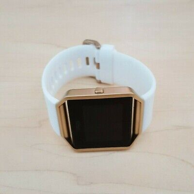 AU57.50 • Buy Fitbit Blaze Smart Watch Fitness Activity Tracker White Gold - Small *NO CHARGER