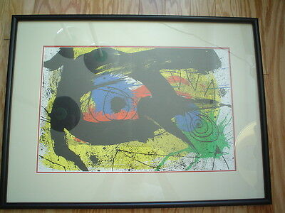 £194.77 • Buy JOAN MIRO Original Lithograph From DLM 203 - Attractive Frame - COA